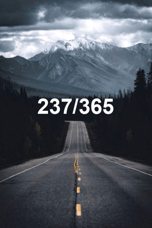 today is day 237 of the year 2019