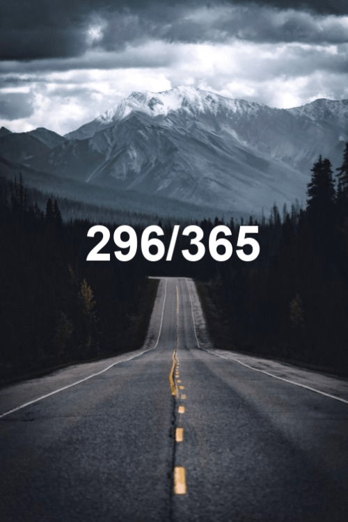 today is day 296 of the year 2019