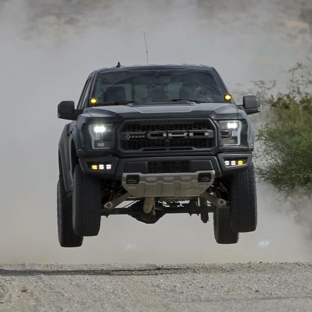 the manly life - ford raptor getting air