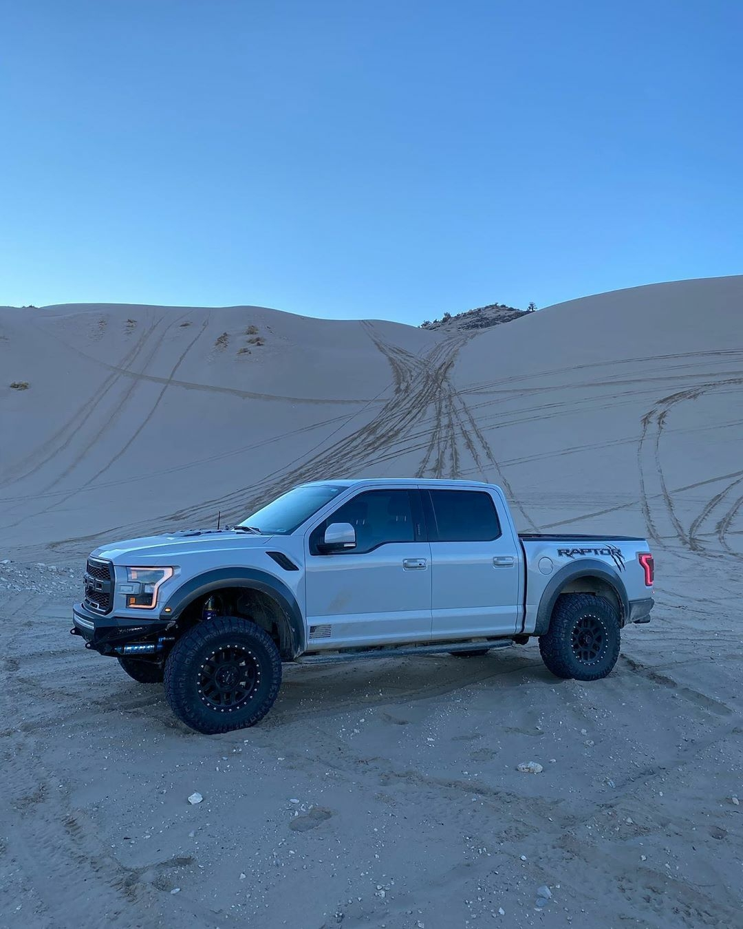 Ford Raptor in the sand