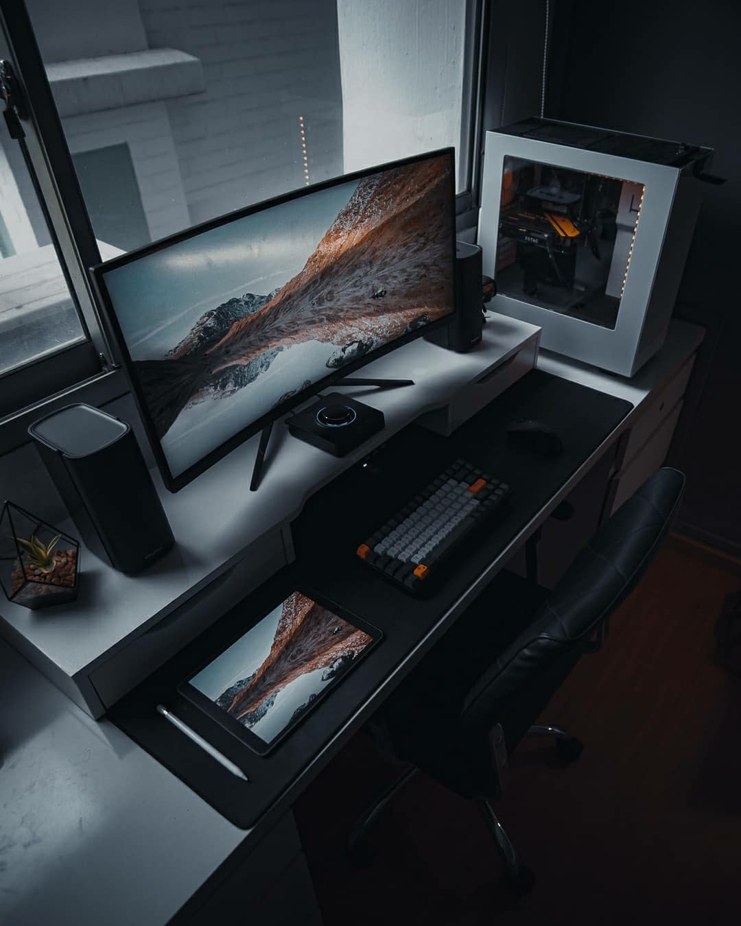 clean home office workstation