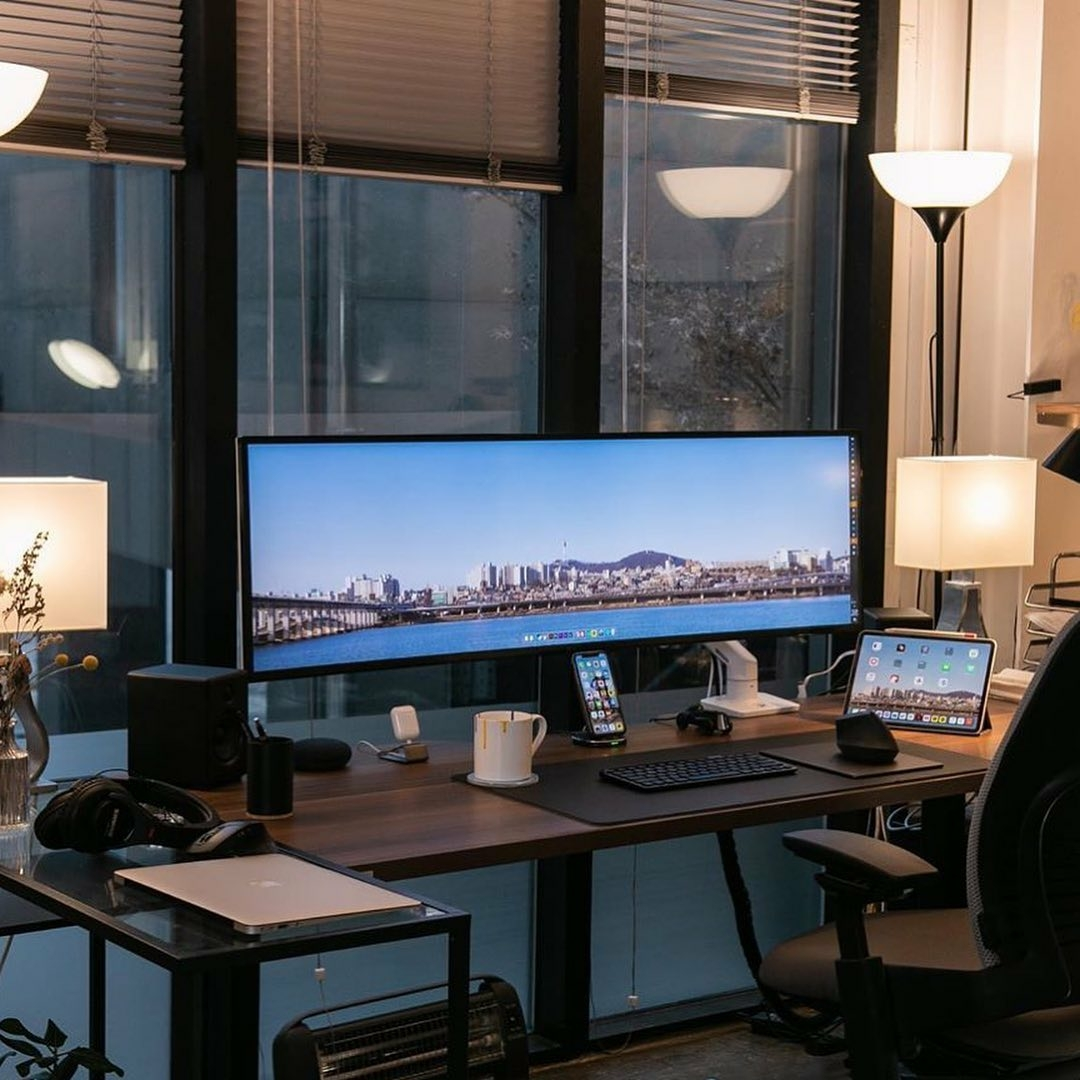 modern manly home office