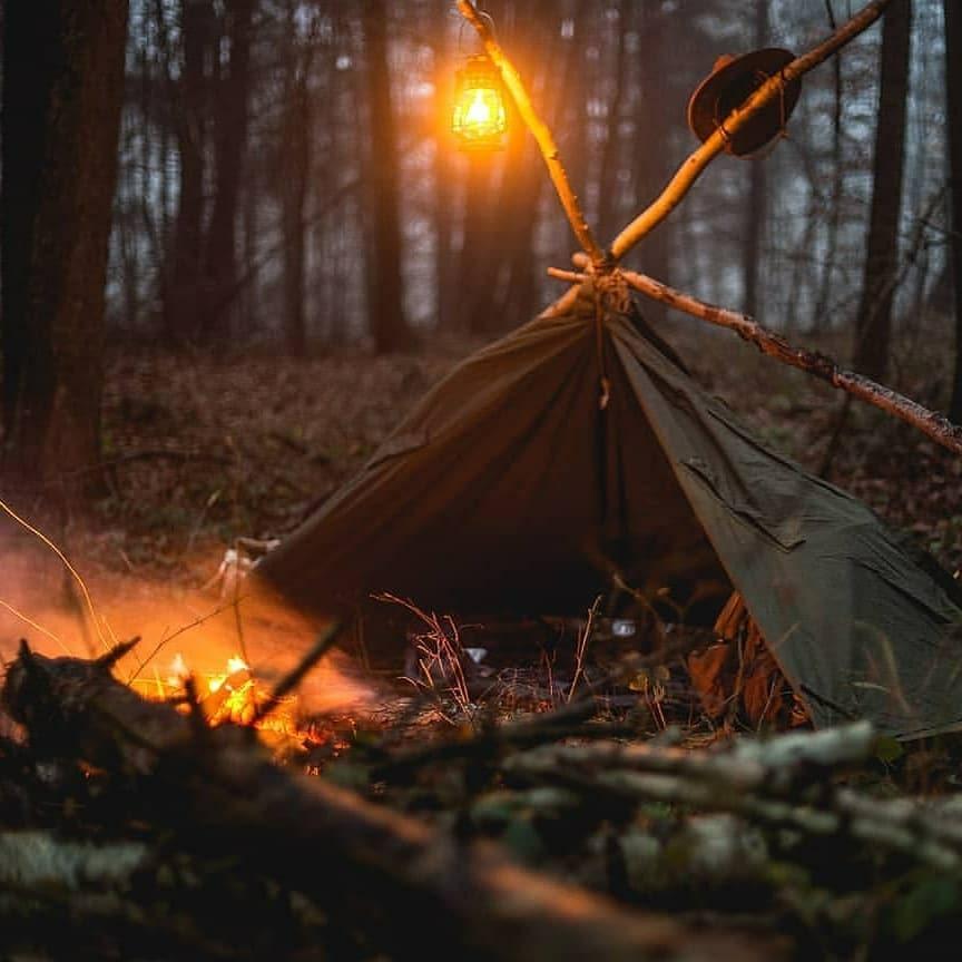 handmade shelter tent