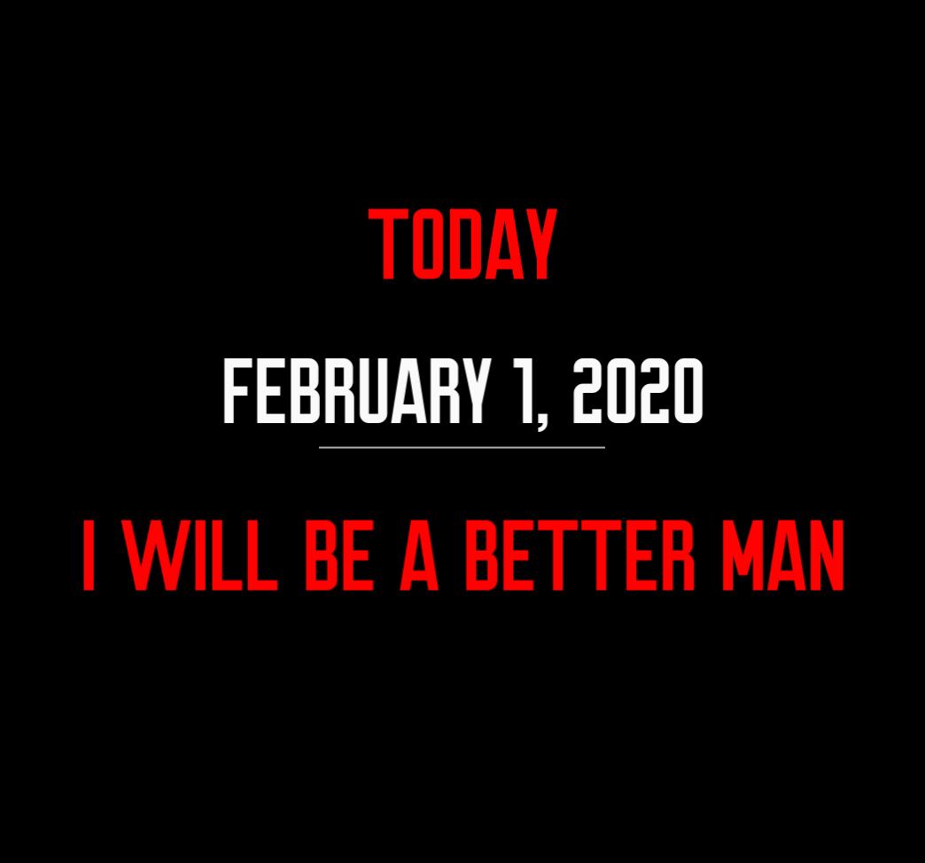 better man 2-1-20