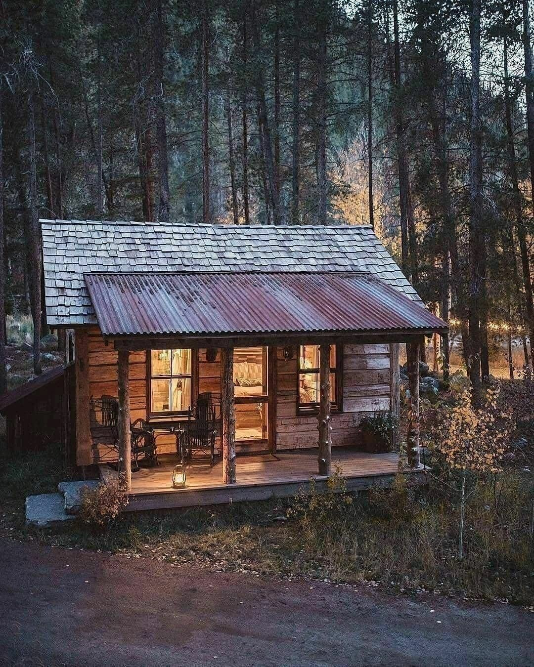 old cabin in the woods