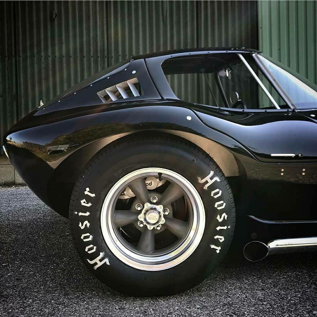 black hot rod corvette