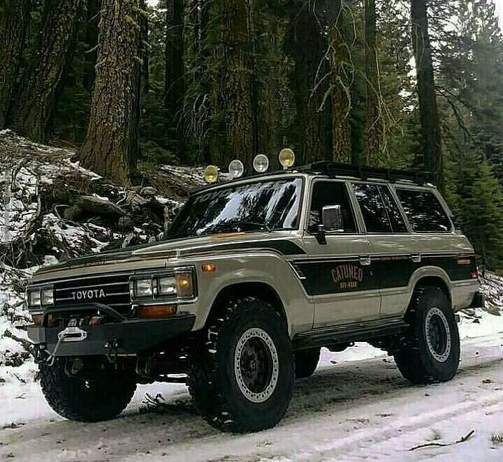 toyota 4x4 in the snow