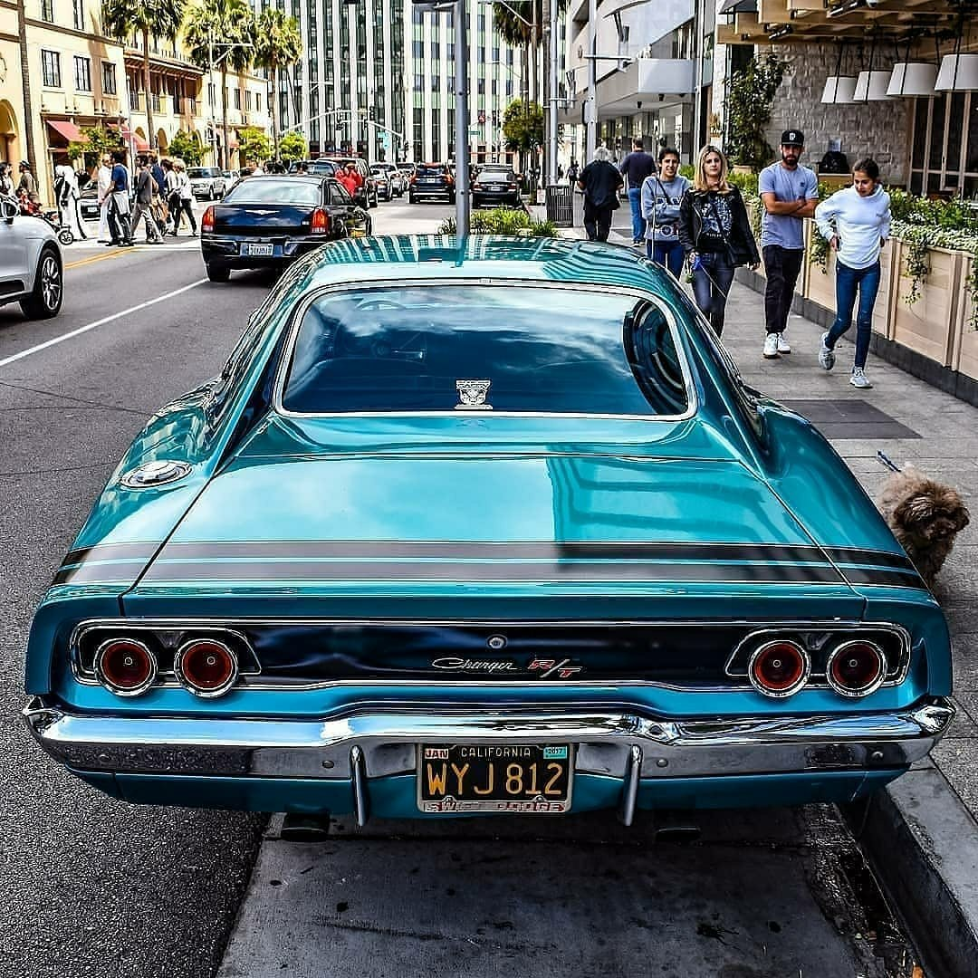 classic charger parked on street