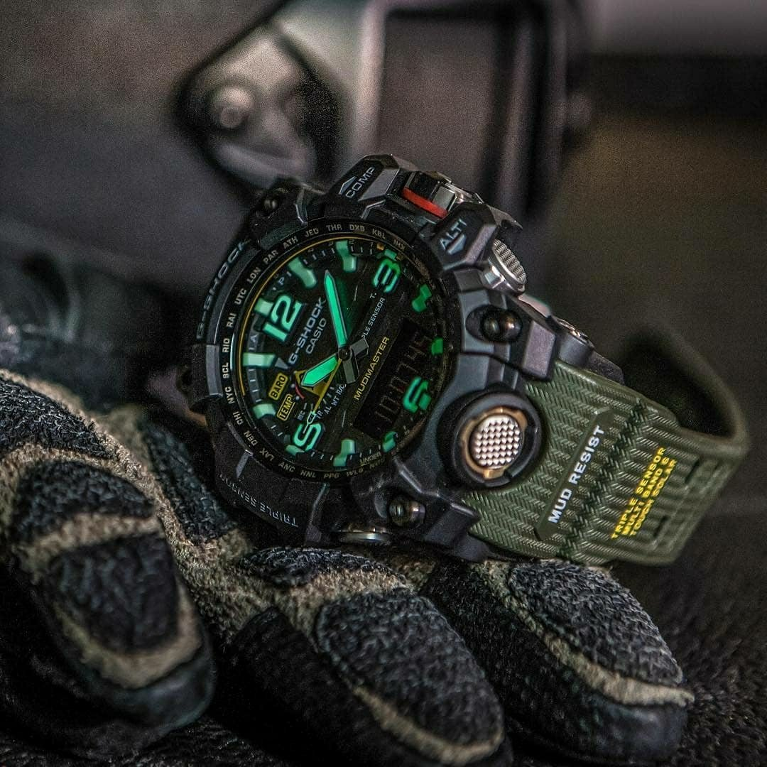 green and black gshock
