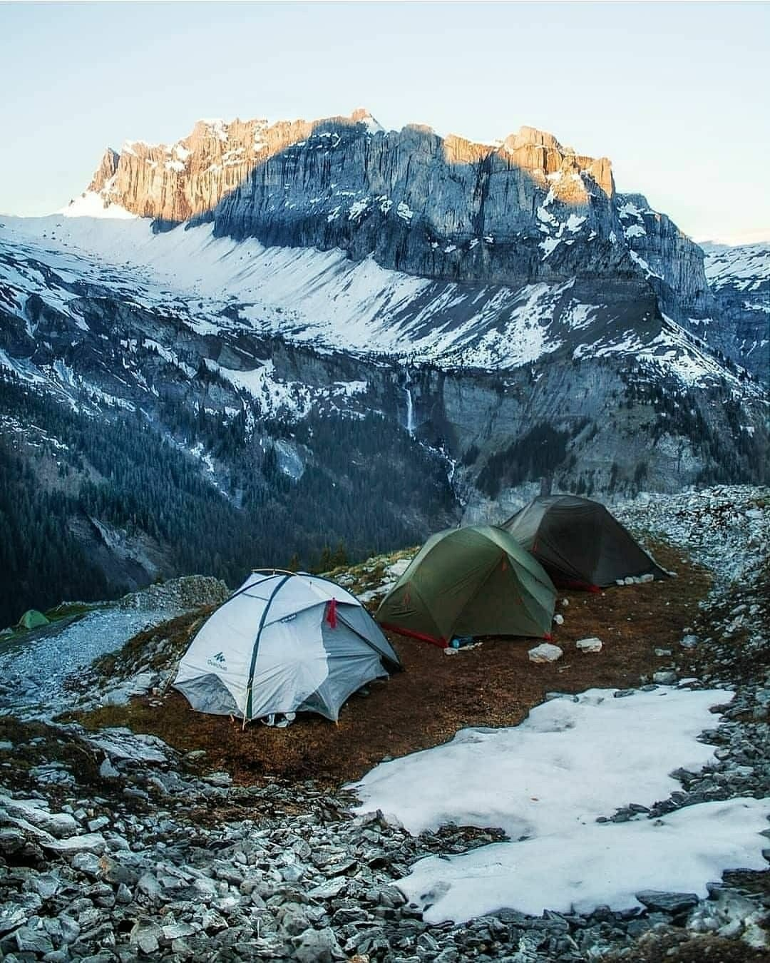 camping in the French Alps