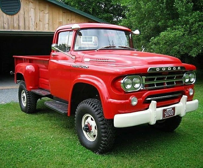 classic red Dodge 4X4 Powerwagon