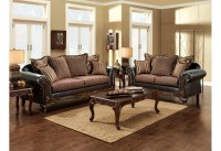 Brown Gold Living Room