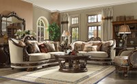 HD 1623 Homey Design upholstery living room set Victorian ...