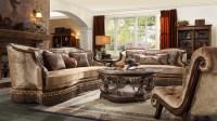 HD 1631 Homey Design upholstery living room set Victorian ...