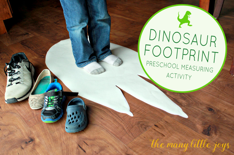 Dinosaur Footprints: Preschool Measuring Activity