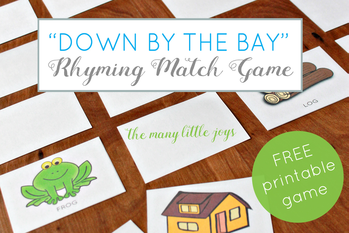 This is a photo of Rhyming Game Printable within phonological