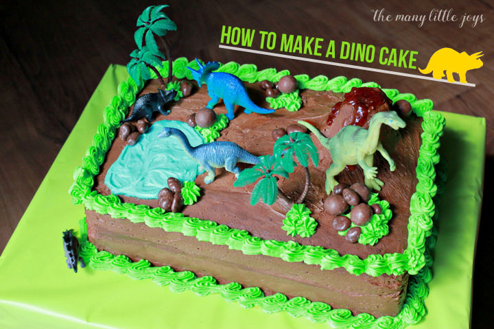 Magnificent How To Make A Dinosaur Birthday Cake The Many Little Joys Funny Birthday Cards Online Alyptdamsfinfo