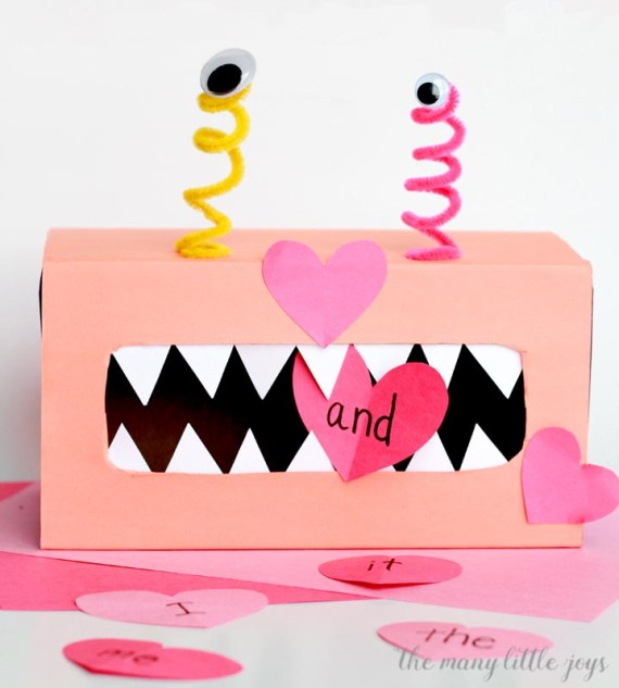 Turn your trash into treasure with this simple preschool Valentine's activity that includes a book, a craft, and a learning game that can easily be adapted for kids of various ages.