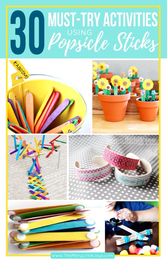 These 30 creative and fun popsicle stick crafts & activities are enough to keep your kiddos busy for a whole month!