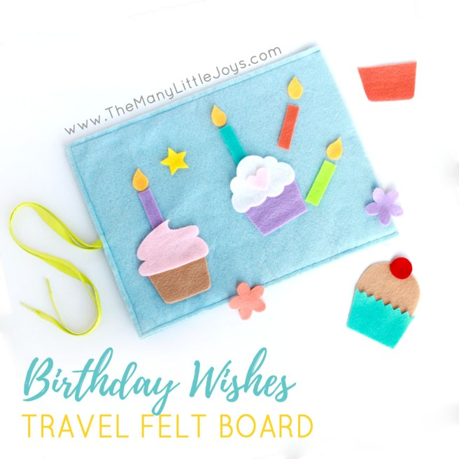 Travel felt boards are a great activity for kids stuck on a plane or waiting in a restaurant. This fun birthday travel felt board set is a celebratory addition to the downloadable sets I've shared in the past.