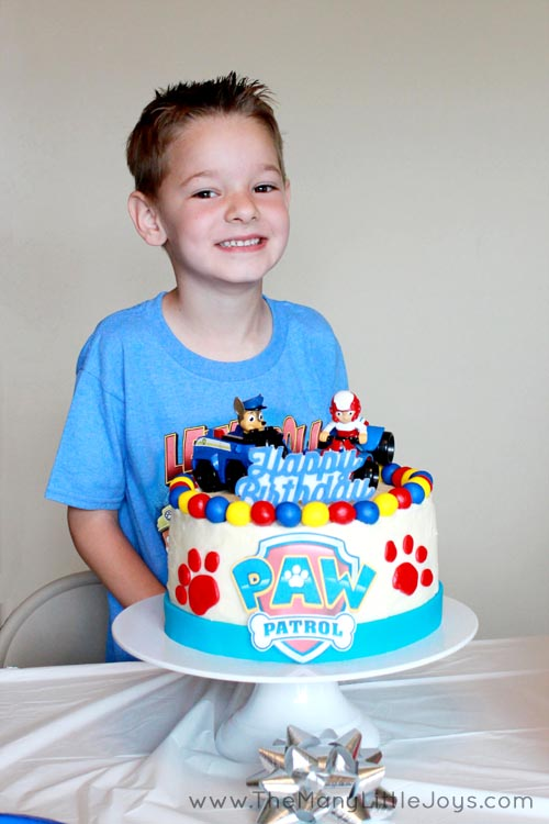 Paw Patrol birthday party a real