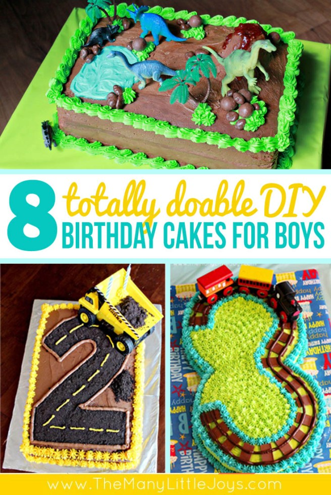 8 Fantastic Diy Birthday Cakes For Boys The Many Little Joys
