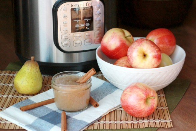 This easy homemade applesauce is made even tastier with the addition of super-sweet pears and totally fool-proof with the use of the ever-popular Instant Pot. It's a perfect snack to make with your kids this fall.