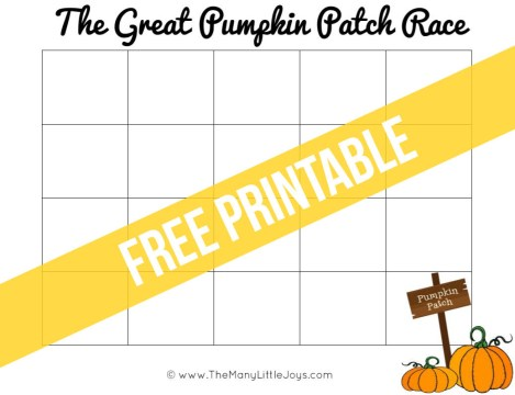 Help your preschooler learn to count using this simple printable preschool game. Race to fill up your pumpkin patch before Halloween arrives, and then race again to sell your crop.
