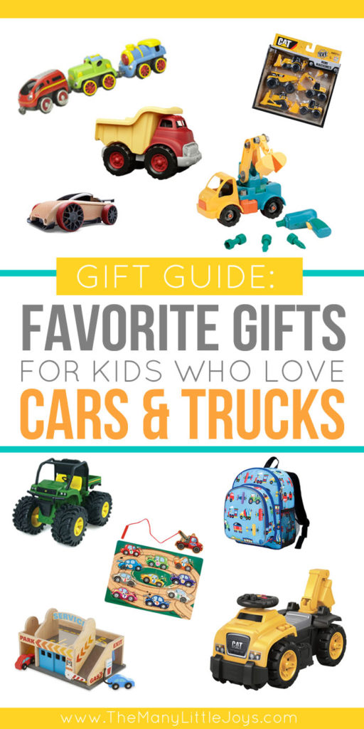 For the child in your life who loves all things that go, this gift guide will give you plenty of ideas for car and truck gifts that are sure to be a hit.