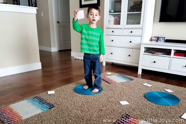 """Little boys love anything dangerous...and if you can't beat 'em, join 'em! This engaging preschool learning game is a great way to get kids to practice academic skills in the context of a """"death-defying"""" challenge."""