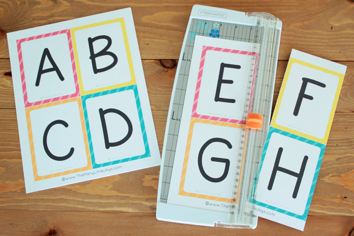 Free Printable Alphabet Flashcards (upper and lowercase) - The Many