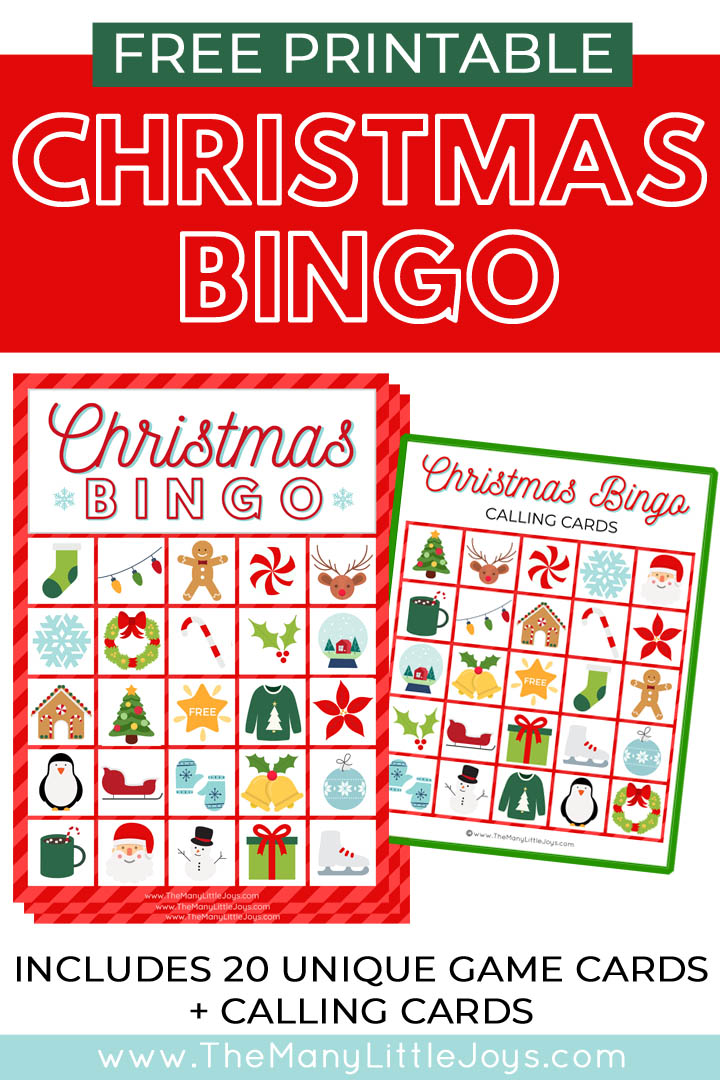 It is a picture of Epic Free Printable Christmas Bingo Cards for Large Groups