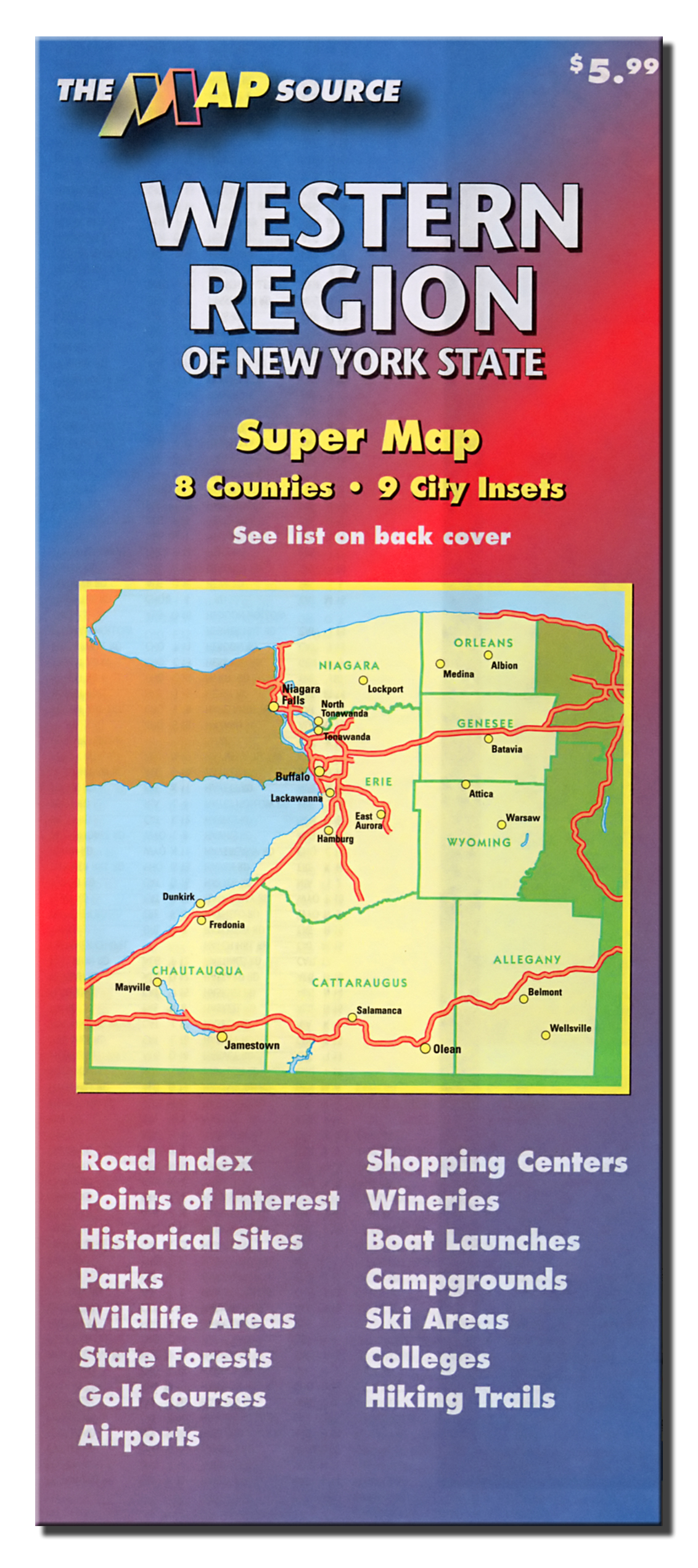 Western Region Of New York State The Map Source