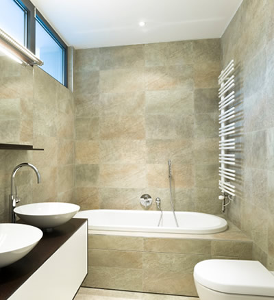 bathrooms made of natural stones