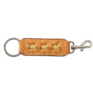 Leather Key Ring and Clasp-Hazelnut Brown