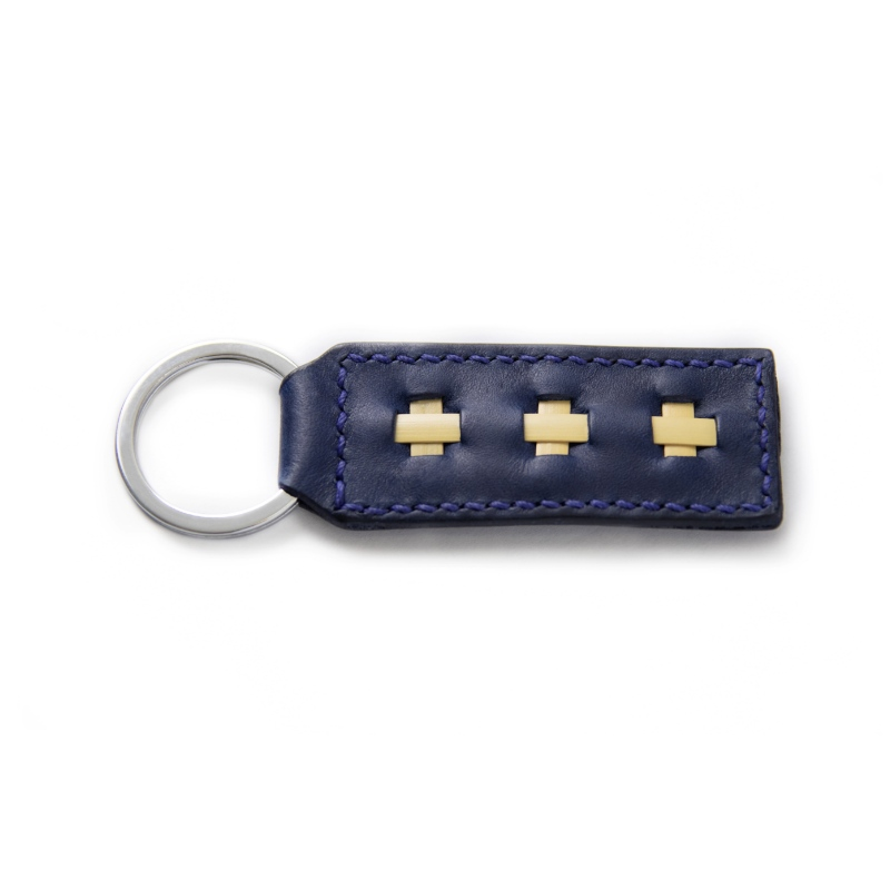 marine blue key ring