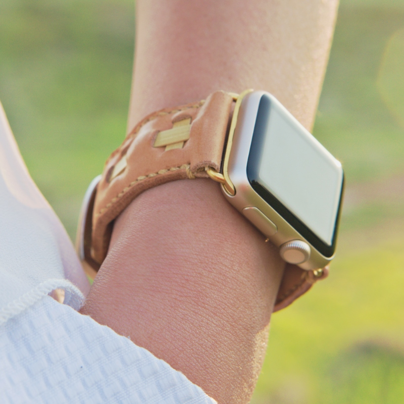 leather apple watch band model
