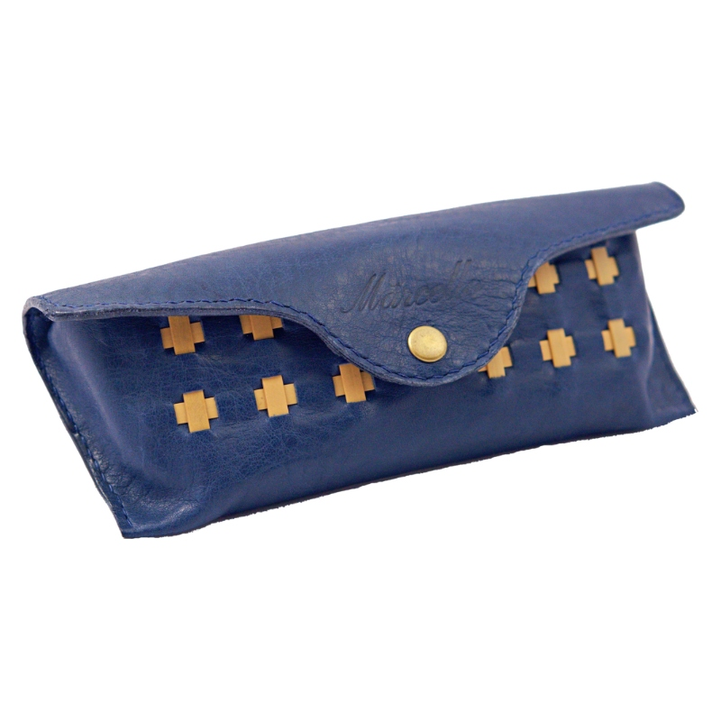 leather glasses case blue product