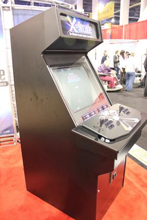 X-Arcade Upright side