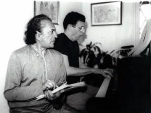 Remembering the Godfather of World Music: Ravi Shankar + Philip Glass, 1990