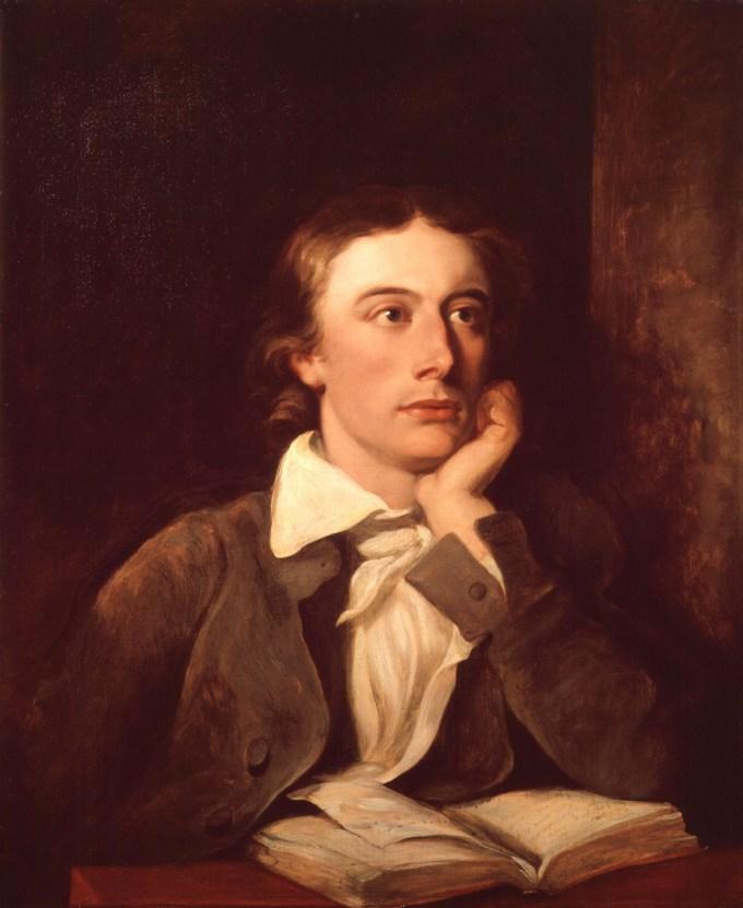 Portrait of John Keats by William Hilton