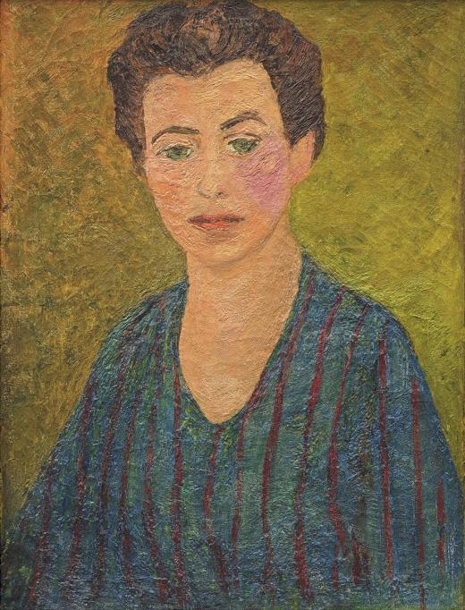 Agnes Martin, Self Portrait, c. 1947. (Collection of Christa Martin)
