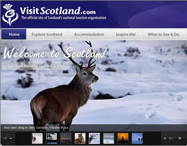 Scotland the brand. Visit Scotland website