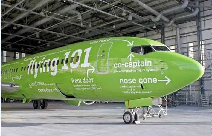 Kulula airline nose cone