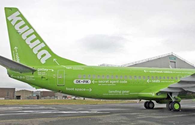 injecting brand personality, Kulula airline tail