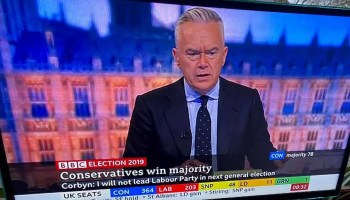 Marketing politics : Huw Edwards hosting the BBC General Election coverage