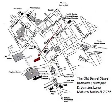 Map to find The Market Researchers Market Research Agency | Marlow, SL7 2FF, Buckinghamshire, UK