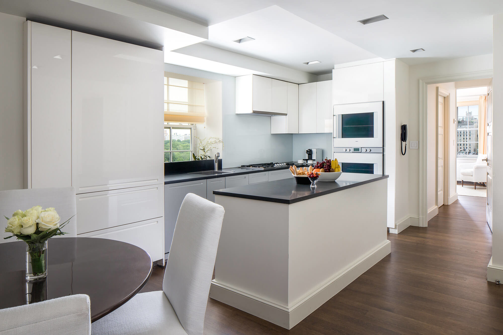 hotel with kitchen in room island stove suites manhattan the mark five bedroom