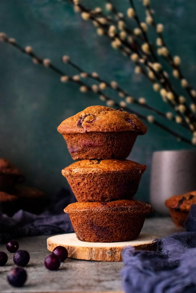 Lighter Blueberry Muffins