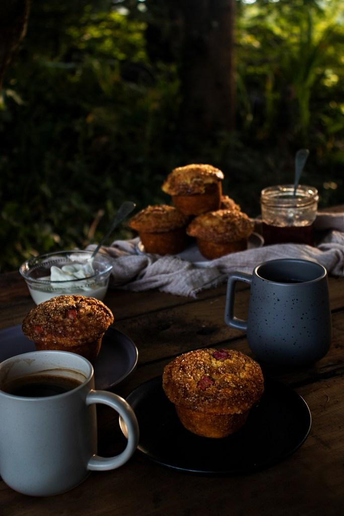 Rhubarb & Buttermilk Muffins
